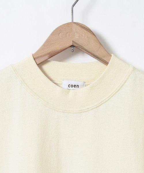 coen(コーエン)/【WEB限定カラーに新色ブラウン登場】USAコットンハイネックTシャツ/76256009019_img45