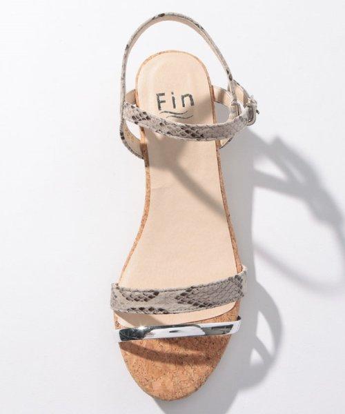 Fin(フィン)/ダブルストラップウエッジサンダル【低反発スポンジ入り】/192099329_img19