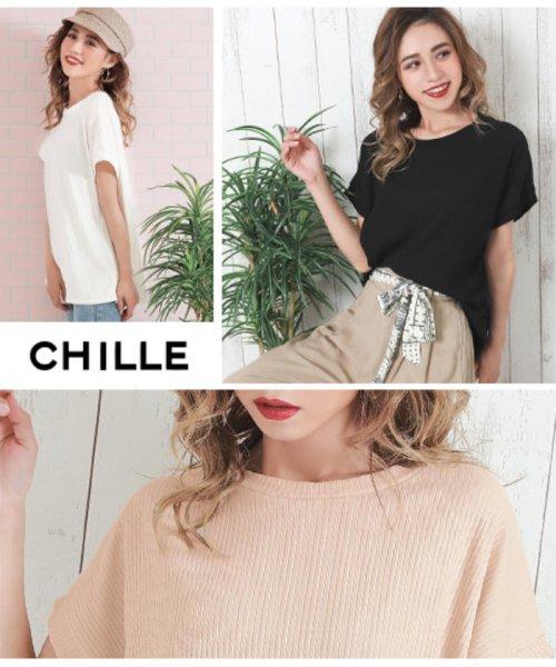 CHILLE(チル)/リブゆるトップス/0533300026_img01