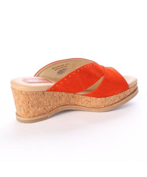Pitti(ピッティ)/ピッティ Pitti コルクウェッジミュールサンダル (オレンジ)/P01819BW03038_img02
