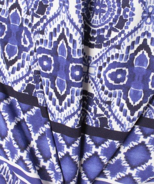 LAPINE BLANCHE(ラピーヌ ブランシュ)/【接触冷感/洗える】ジョイクール幾何柄パネルPT チュニック/120886_img04