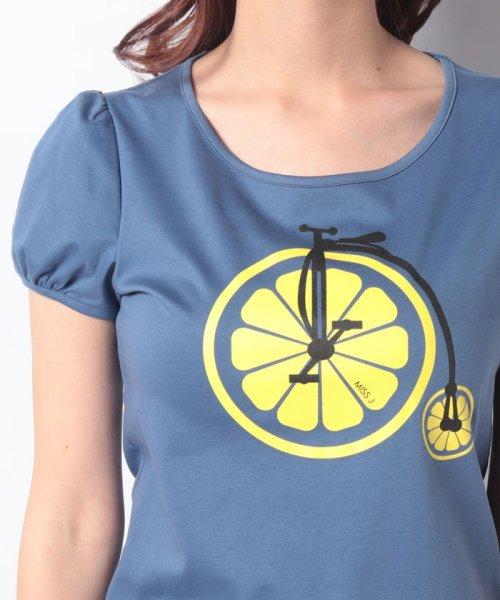 MISS J(ミス ジェイ)/【洗える】レモンサイクルプリント Tシャツ/630739_img03