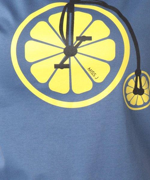 MISS J(ミス ジェイ)/【洗える】レモンサイクルプリント Tシャツ/630739_img04