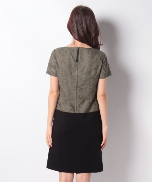 MISS J(ミス ジェイ)/刺繍入りスパンボイル×ポンチドッキング ドレス/631564_img02