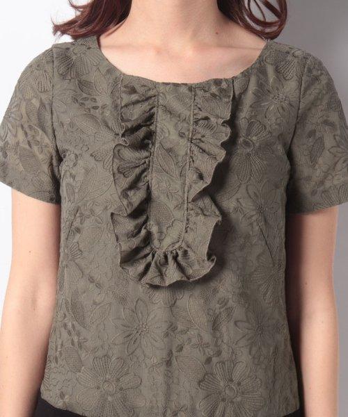 MISS J(ミス ジェイ)/刺繍入りスパンボイル×ポンチドッキング ドレス/631564_img04