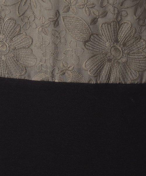 MISS J(ミス ジェイ)/刺繍入りスパンボイル×ポンチドッキング ドレス/631564_img06