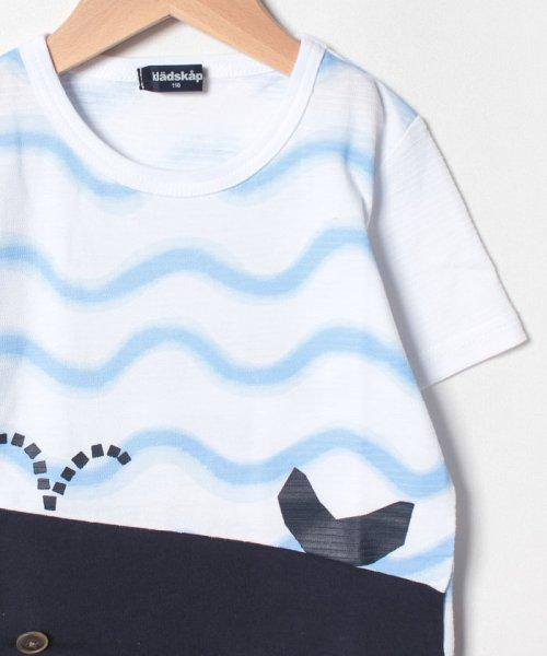 kladskap(クレードスコープ)/裾クジラ切替Tシャツ/5392220_img02