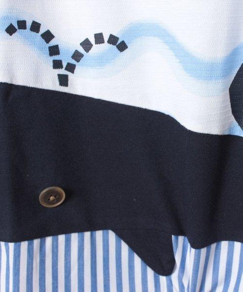 kladskap(クレードスコープ)/裾クジラ切替Tシャツ/5392220_img03