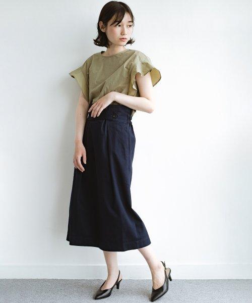 haco!(ハコ)/ボタンがポイントのカジュアルにもきれいにもはけるセミタイトスカート/472018_img09