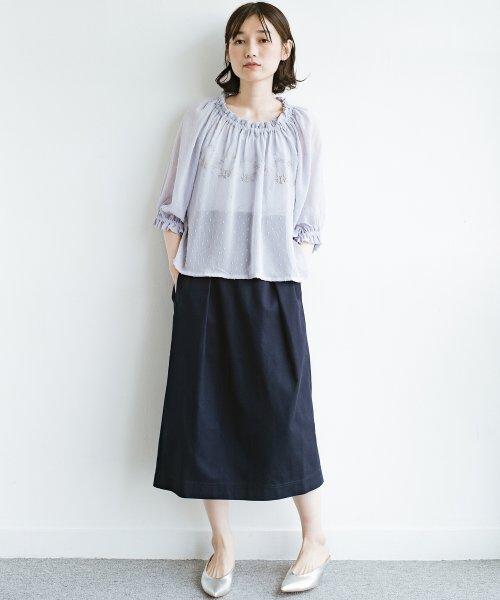 haco!(ハコ)/ボタンがポイントのカジュアルにもきれいにもはけるセミタイトスカート/472018_img11