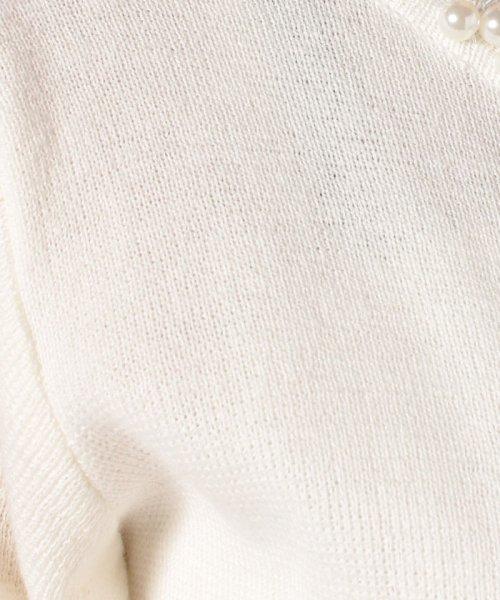 Eimy Peral(エイミーパール(ドレス))/【ドレスライン】パール付きボレロカーディガン/67375_img04
