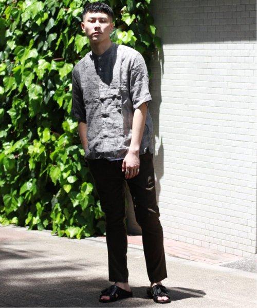 JOURNAL STANDARD relume Men's(ジャーナルスタンダード レリューム メンズ)/Linen Panama バンドカラーシャツ/19051464310010_img02