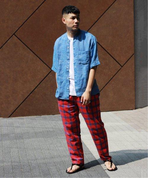 JOURNAL STANDARD relume Men's(ジャーナルスタンダード レリューム メンズ)/Linen Panama バンドカラーシャツ/19051464310010_img08