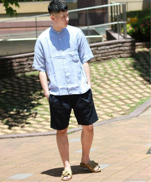 JOURNAL STANDARD relume Men's(ジャーナルスタンダード レリューム メンズ)/Linen Panama バンドカラーシャツ/19051464310010_img12