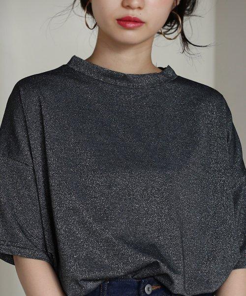 Bou Jeloud(ブージュルード)/◆ゆったりシルエット◆ラメプチハイネックTシャツ/692017_img14