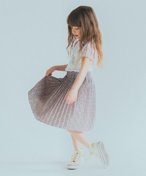 THE SHOP TK(KID)(ザ ショップ ティーケー)/【100cm~140cm/ママおそろい】プリントプリーツスカート/20190123866508_img10