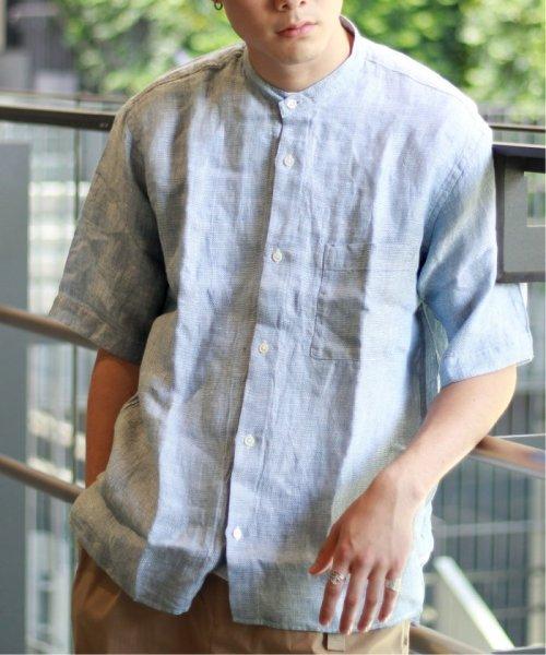 JOURNAL STANDARD relume Men's(ジャーナルスタンダード レリューム メンズ)/Linen Panama バンドカラーシャツ/19051464310010_img18