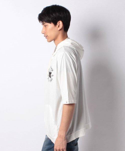MARUKAWA(マルカワ)/【CONVERSE】 大きいサイズ メンズ コンバース 5分袖 天竺 フルジップ パーカー/6852280569_img01