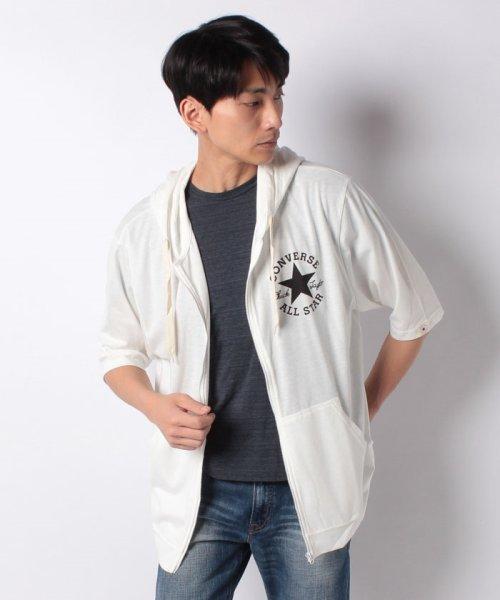 MARUKAWA(マルカワ)/【CONVERSE】 大きいサイズ メンズ コンバース 5分袖 天竺 フルジップ パーカー/6852280569_img07