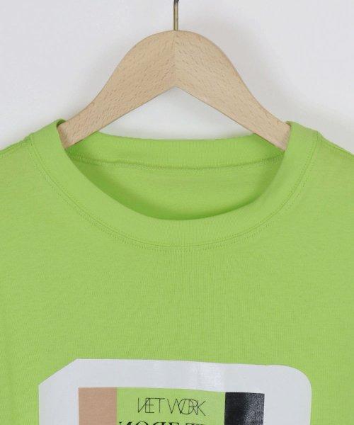LASUD(ラシュッド)/【ラディエイト RADIATE】トリコロール プリントデザイン 半袖 Tシャツ/011251316_img02