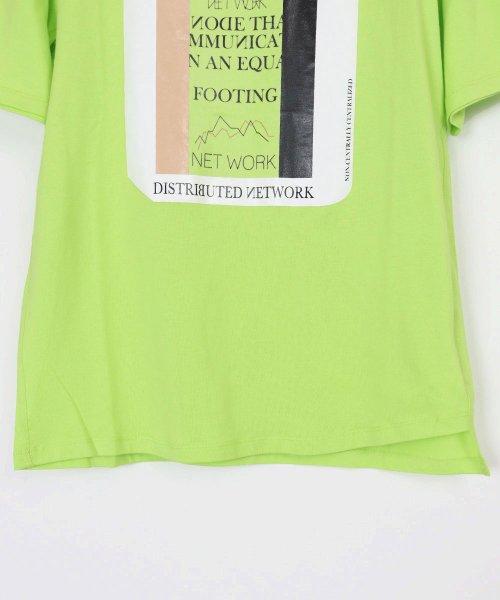 LASUD(ラシュッド)/【ラディエイト RADIATE】トリコロール プリントデザイン 半袖 Tシャツ/011251316_img05