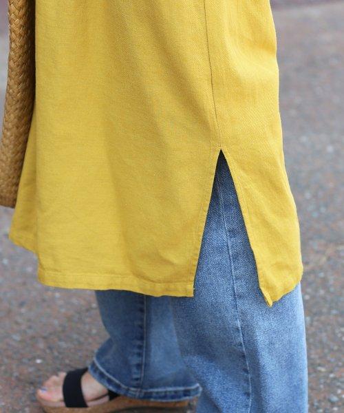 Bou Jeloud(ブージュルード)/★【WEB限定】人気のフレンチリネンシリーズ◆綿麻ツイルIラインワンピース/792111_img16