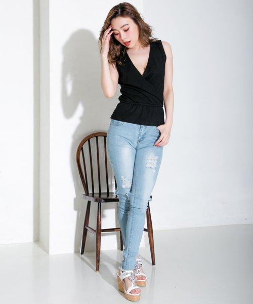 Julia Boutique(ジュリアブティック)/ヴィンテージ風バックハードクラッシュデニムスキニー・ダメージデニム/510260/510260_img07