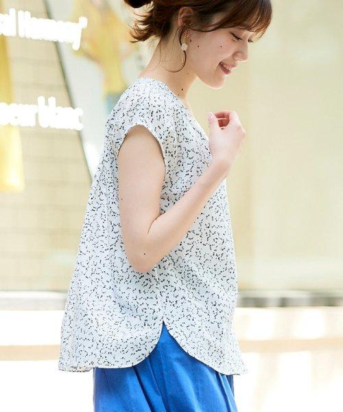 le.coeur blanc(ルクールブラン)/ニュアンスVネックフレンチシャツ/3095039730_img08