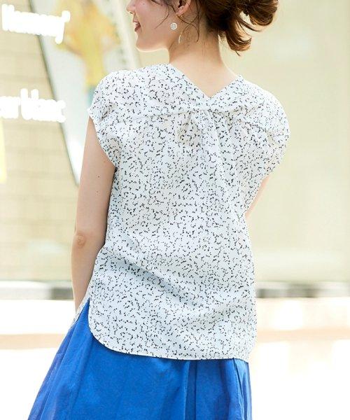 le.coeur blanc(ルクールブラン)/ニュアンスVネックフレンチシャツ/3095039730_img09