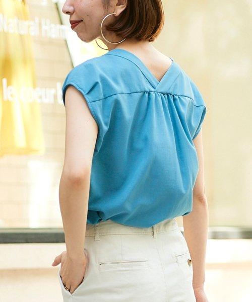 le.coeur blanc(ルクールブラン)/ニュアンスVネックフレンチシャツ/3095039730_img18