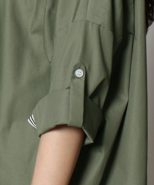 SCOTCLUB(スコットクラブ)/GRANDTABLE(グランターブル) ロールアップビッグシャツ/021326062_img11