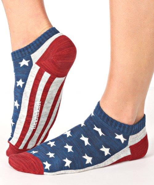 LUXSTYLE(ラグスタイル)/Healthknit(ヘルスニット)アメリカンフラッグショートソックス 3足セット/靴下 ソックス メンズ くつした くるぶし 星条旗 アメリカ国旗/pm-8406_img03