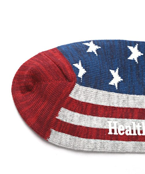 LUXSTYLE(ラグスタイル)/Healthknit(ヘルスニット)アメリカンフラッグショートソックス 3足セット/靴下 ソックス メンズ くつした くるぶし 星条旗 アメリカ国旗/pm-8406_img06