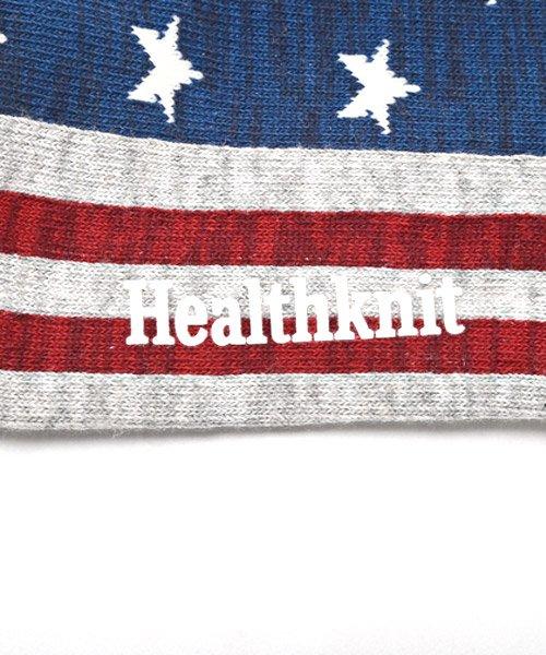 LUXSTYLE(ラグスタイル)/Healthknit(ヘルスニット)アメリカンフラッグショートソックス 3足セット/靴下 ソックス メンズ くつした くるぶし 星条旗 アメリカ国旗/pm-8406_img07