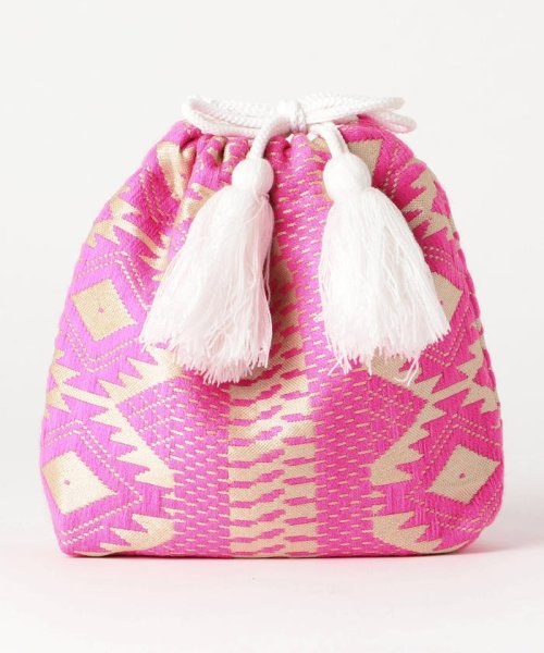 fredy emue(フレディエミュ)/【Swaraj/スワラージ】幾何学ジャガード巾着バッグ/9-0552-2-32-104_img01