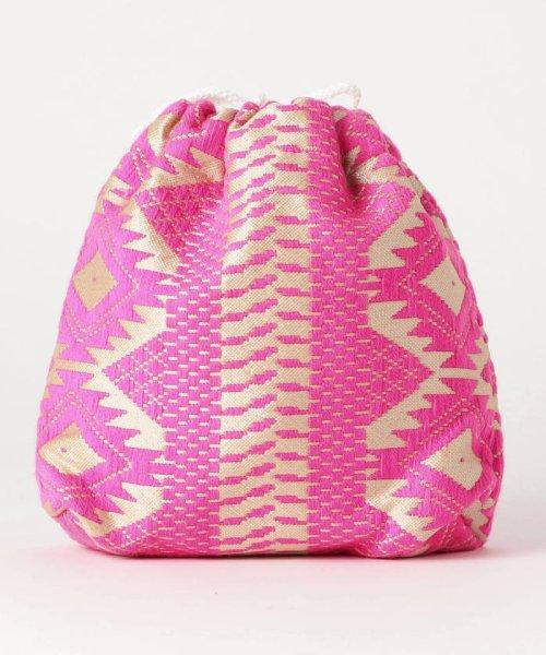 fredy emue(フレディエミュ)/【Swaraj/スワラージ】幾何学ジャガード巾着バッグ/9-0552-2-32-104_img03