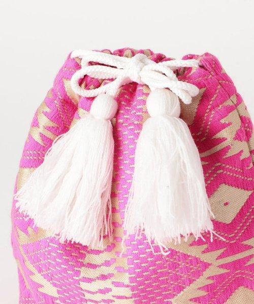 fredy emue(フレディエミュ)/【Swaraj/スワラージ】幾何学ジャガード巾着バッグ/9-0552-2-32-104_img05