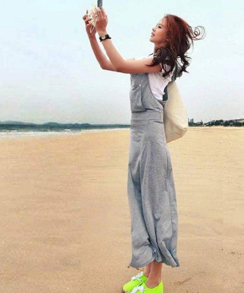 felt maglietta(フェルトマリエッタ)/フード付で可愛さアップスタイリッシュなオーバーオールマキシ丈ジャンパースカート/2518_img08