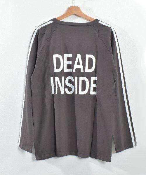 felt maglietta(フェルトマリエッタ)/ロゴプリントサイドラインロングTシャツ/am104_img01