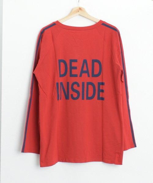 felt maglietta(フェルトマリエッタ)/ロゴプリントサイドラインロングTシャツ/am104_img05