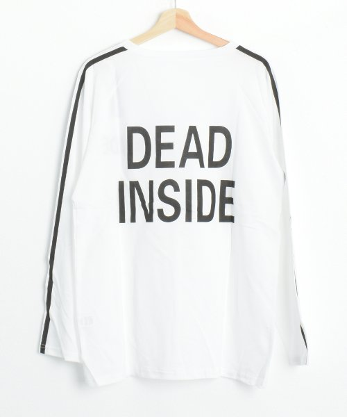 felt maglietta(フェルトマリエッタ)/ロゴプリントサイドラインロングTシャツ/am104_img10