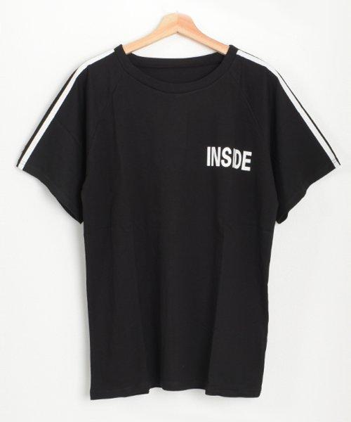 felt maglietta(フェルトマリエッタ)/ロゴプリントサイドラインロングTシャツ/am104_img11