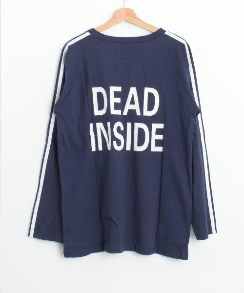 felt maglietta(フェルトマリエッタ)/ロゴプリントサイドラインロングTシャツ/am104_img14