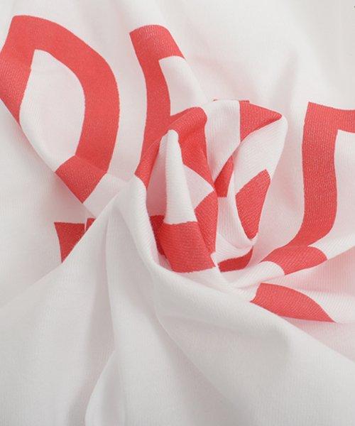 felt maglietta(フェルトマリエッタ)/ロゴプリントサイドラインロングTシャツ/am104_img16