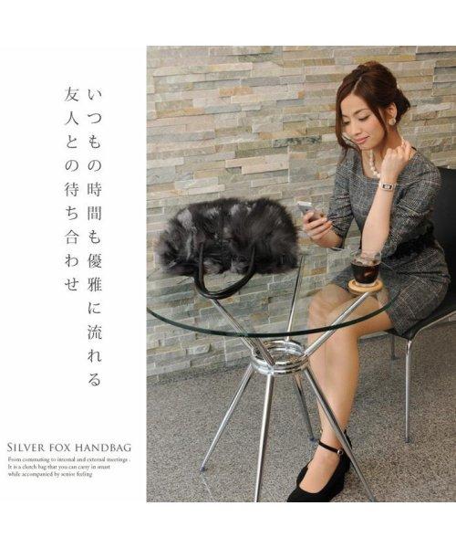 sankyoshokai(サンキョウショウカイ)/ハンドバッグ シルバー フォックス ファー ベロ付き/01000533r_img02