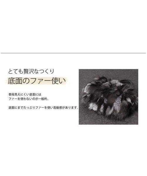 sankyoshokai(サンキョウショウカイ)/ハンドバッグ シルバー フォックス ファー ベロ付き/01000533r_img11