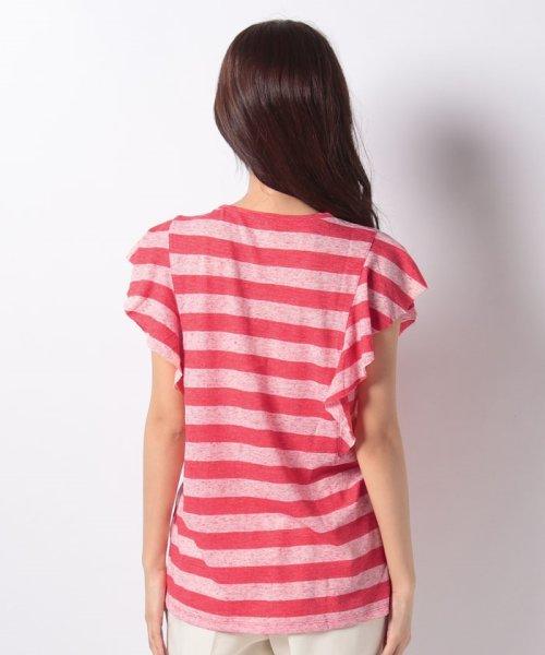 SISLEY(シスレー(レディス))/ミックスボーダーフリルスリーブTシャツ/19P3NU7L12IS_img02