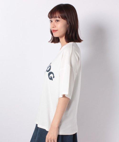 felt maglietta(フェルトマリエッタ)/ブルドッグのプリントが可愛い♪プリントTシャツ/am109_img01