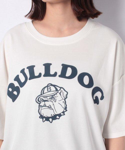 felt maglietta(フェルトマリエッタ)/ブルドッグのプリントが可愛い♪プリントTシャツ/am109_img03