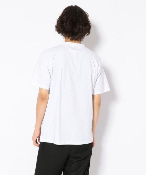 LHP(エルエイチピー)/MADDICT/マディクト/ルーズシルエット ブラックアウトプリントTシャツ/6016191333-60_img02